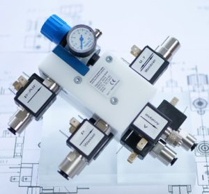 Bavaria Fluid Systems Solenoid Valve Manifolds in Stainless Steel and POM for Assay Technology