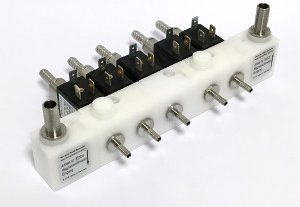 Modular BFS Solenoid Valve Block with Internal Cooling for Postmix Dispense Equipment