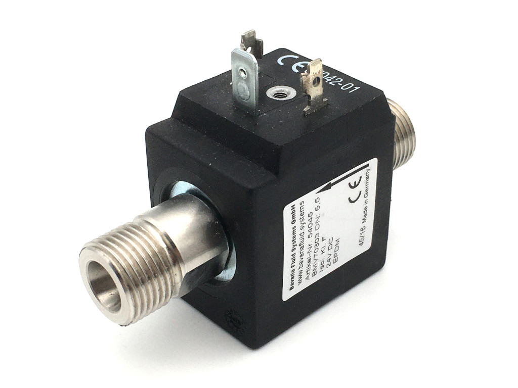 2/2-way-coaxial-beverage-solenoid valve BMV70303; stainless steel; flow-optimized for beer and carbonated drinks