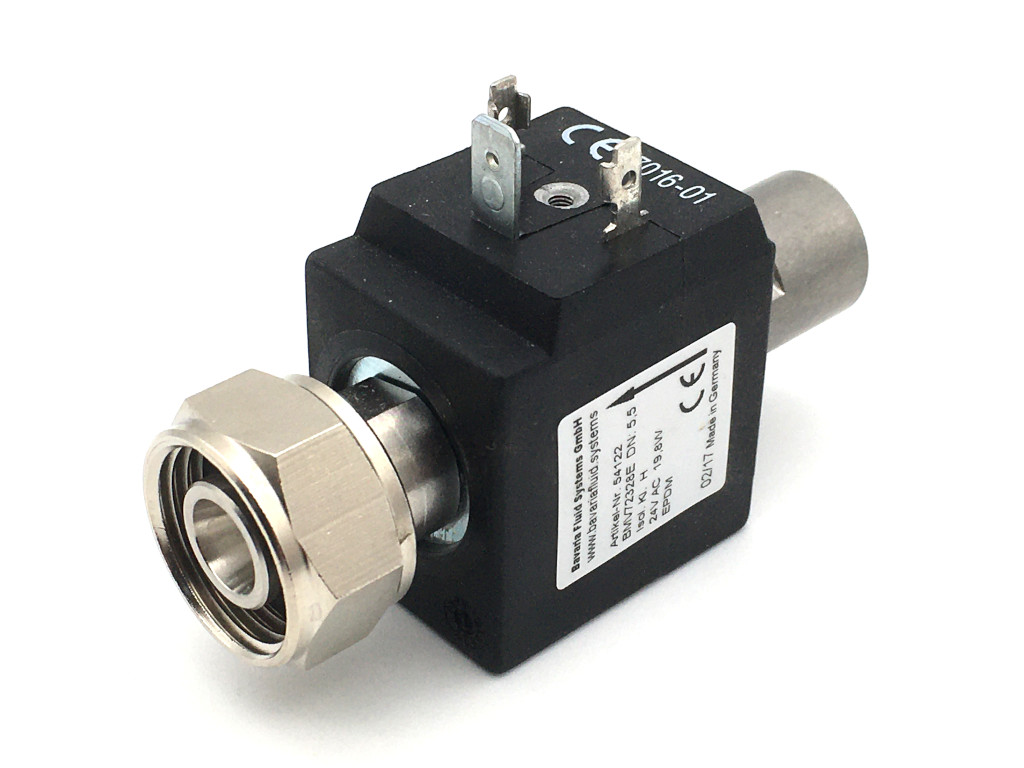 2/2-way-coaxial-beverage-solenoid valve BMV72328; stainless steel; flow-optimized for beer and carbonated drinks