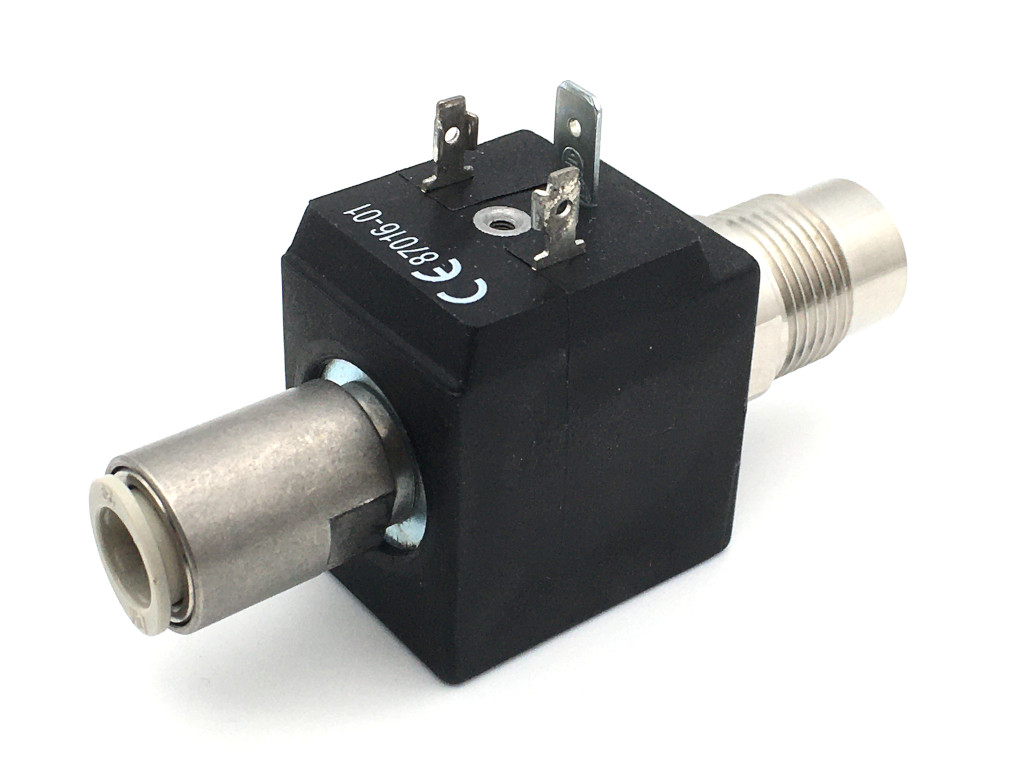 2/2-way-coaxial-beverage-solenoid valve BMV72828; stainless steel; flow-optimized for beer and carbonated drinks