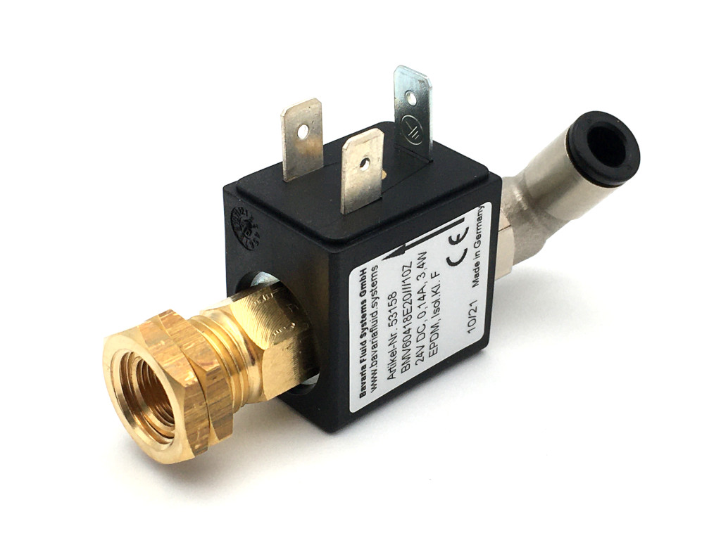 2/2-Way-Coaxial Gas Solenoid Valve BMV60418 in Brass for Laser- and Arc Welders, Inverter Welding Machines with Shielding Gas - MAG, MIG, TIG and for Flame Cutting Systems