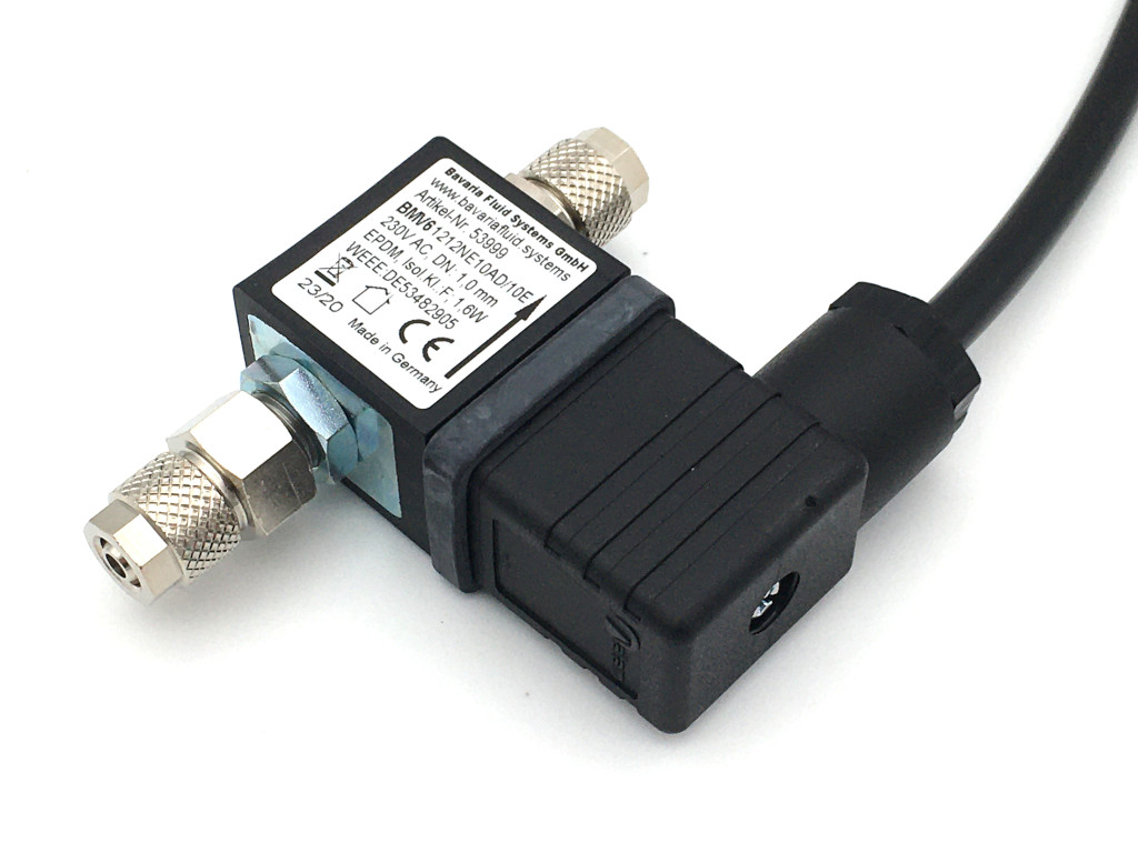 2/2-Way-Coaxial Gas Solenoid Valve BMV61212 230V AC for Fishkeeping and Aquascaping - CO2 Night Shut-off