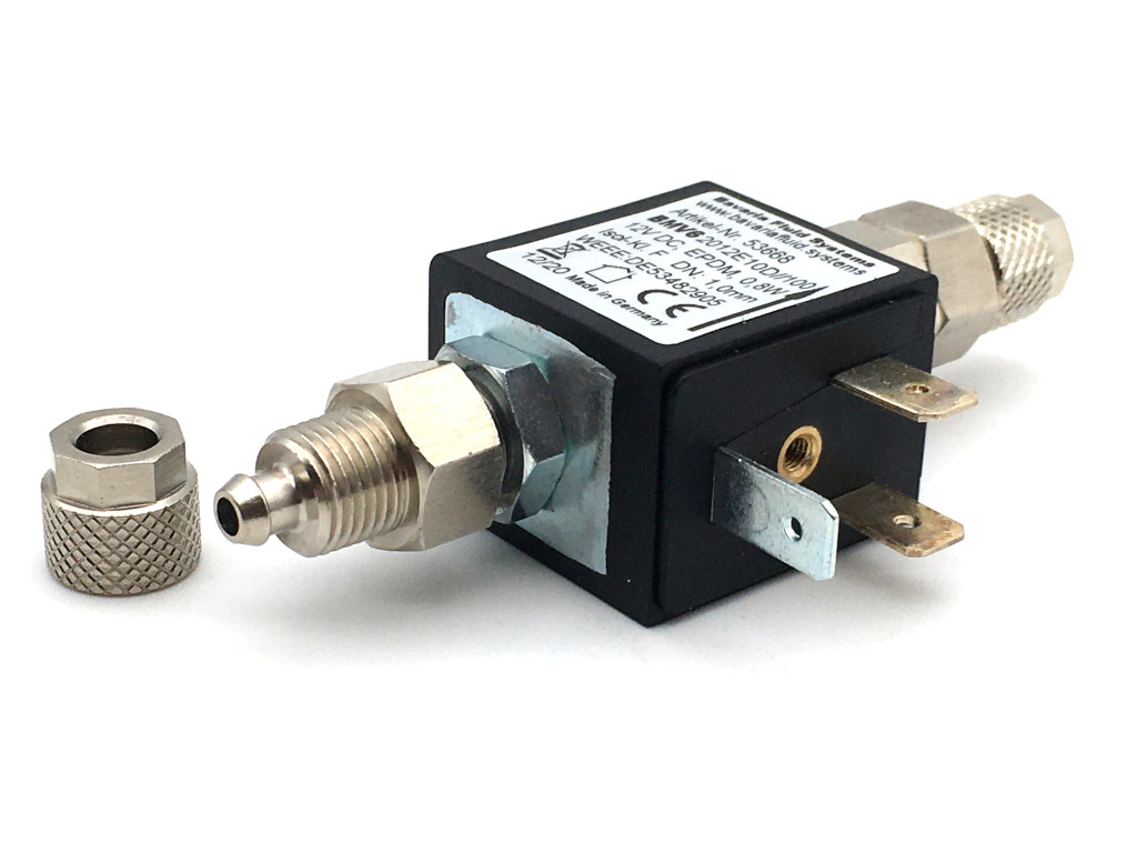 2/2-Way-Coaxial Gas Solenoid Valve with Check Valve BMV62012 12V DC for Fishkeeping and Aquascaping - CO2 Night Shut-off